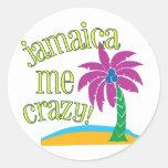 Jamaica Me Crazy Classic Round Sticker