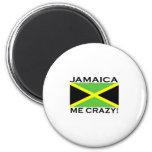 Jamaica Me Crazy Refrigerator Magnet