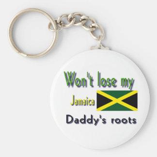 Jamaica my daddy's roots keychain
