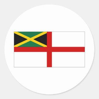 Jamaica Naval Ensign Classic Round Sticker