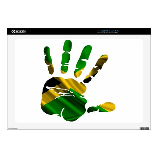 """JAMAICA NICE HAND FLAG PRODUCTS SKIN FOR 17"""" LAPTOP"""
