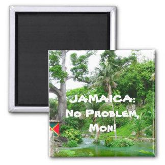 JAMAICA: No Problem, Mon! 2 Inch Square Magnet