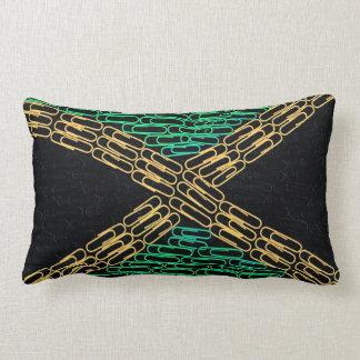 Jamaica of Paperclips Lumbar Pillow