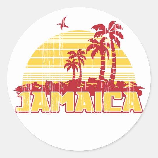 Jamaica Paradise Classic Round Sticker