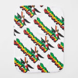 Jamaica Parrot in Three Colors Baby Burp Cloth