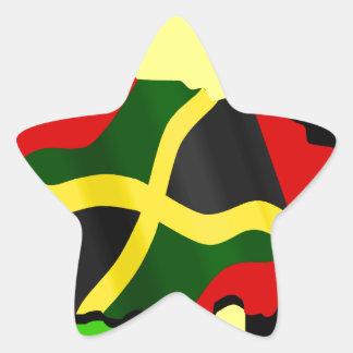 Jamaica Pegatina En Forma De Estrella