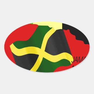 Jamaica Pegatina Ovalada
