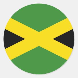 Jamaica Pegatina Redonda