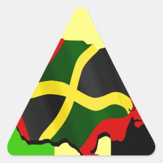 Jamaica Pegatina Triangular