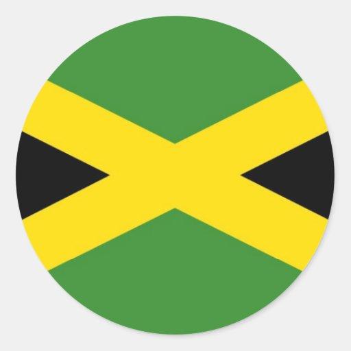 Jamaica Pegatinas Redondas