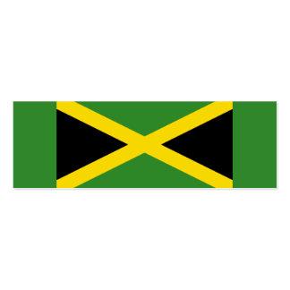Jamaica - pequeñas señales de la bandera jamaicana tarjetas de visita mini
