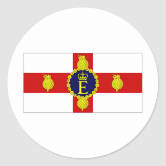 Jamaica Personal Flag of HM The Queen Flag Classic Round Sticker