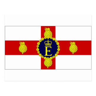 Jamaica Personal Flag of HM The Queen Flag Postcard