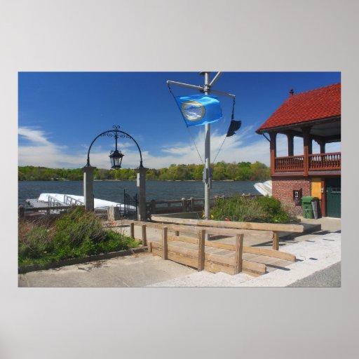 Jamaica Pond Boathouse Boston Posters