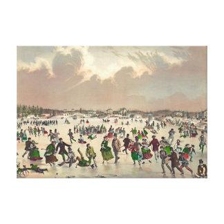 Jamaica Pond Massachusetts 1859 Stretched Canvas Prints
