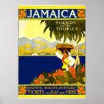 Jamaica, poster del viaje del vintage