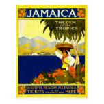 Jamaica, poster del viaje del vintage postal