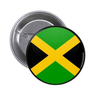 Jamaica quality Flag Circle Pinback Button
