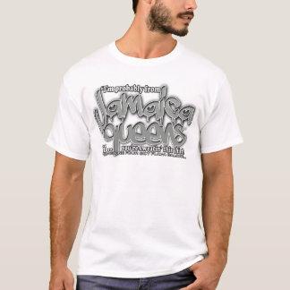 jamaica queens graffiti shirt (gray white font)