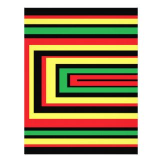 JAMAICA rasta roots colors Letterhead