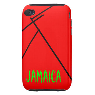 Jamaica Red Tough iPhone 3 Cover