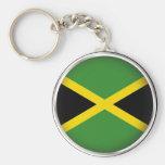 Jamaica redonda llaveros