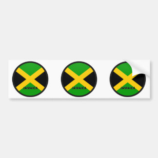 Jamaica Roundel quality Flag Bumper Sticker