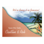 Jamaica Save The Date (coral sand) Post Card