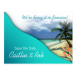 Jamaica Save The Date (emerald waters) Postcards