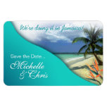 Jamaica Save The Date (emerald waters) Rectangle Magnet