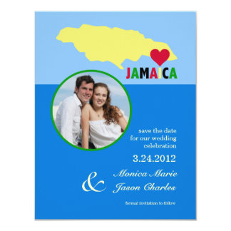 "Jamaica Save the Date Photo Announcement 4.25"" X 5.5"" Invitation Card"
