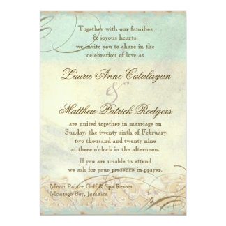 Jamaica Sea Turtle Modern Coastal Ocean Beach 5x7 Paper Invitation Card