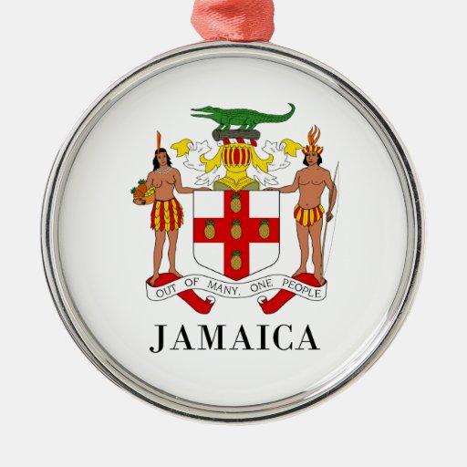 JAMAICA - símbolo/escudo de Adorno Navideño Redondo De Metal