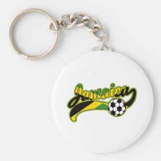 Jamaica Soccer Basic Round Button Keychain