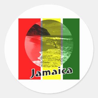 Jamaica Round Stickers