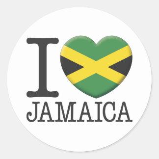 Jamaica Round Sticker