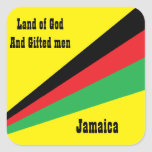 jamaica sticker-land of god and gifted men