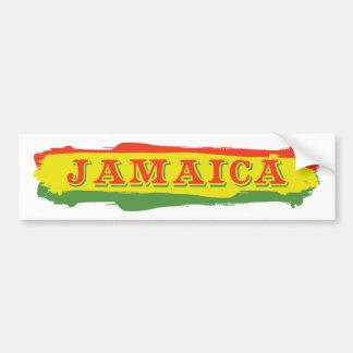 Jamaica Stripes Bumper Sticker