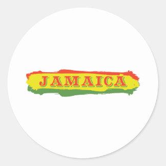 Jamaica Stripes Classic Round Sticker