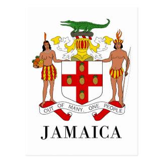 JAMAICA - symbol/coat of arms/flag/colors/emblem Postcard