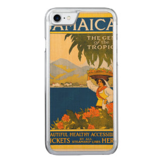 Jamaica, the gem of the tropics carved iPhone 7 case
