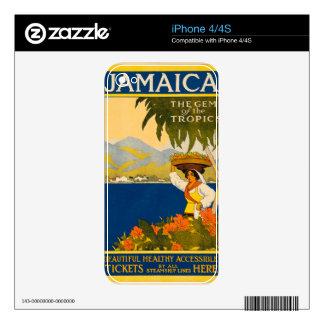 Jamaica, the gem of the tropics iPhone 4 decals