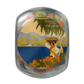 Jamaica, the gem of the tropics jelly belly candy jars