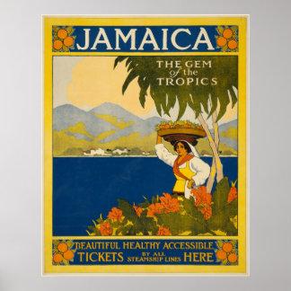 Jamaica the gem of the tropics poster