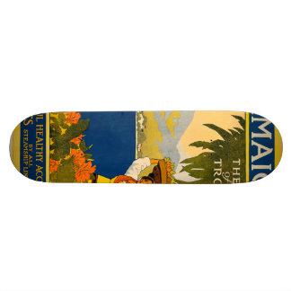 Jamaica, the gem of the tropics skateboard deck