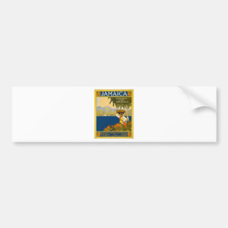 Jamaica The Gem Of The Tropics Vintage Travel Bumper Sticker