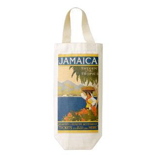 Jamaica, the gem of the tropics zazzle HEART wine bag