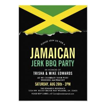 Jamaica Themed Cuisine | Party Flag Invite