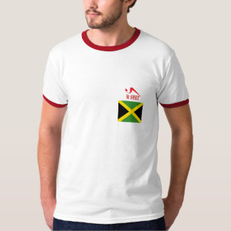 Jamaica To The World Ringer T-Shirt
