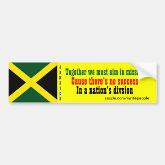 Jamaica togetherness bumper stickers